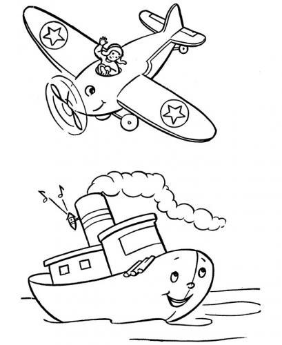aereo disegno bambini