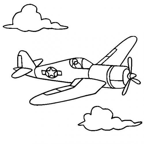 aereo disegno per bambini