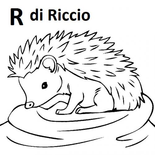alfabetiere italiano da stampare R