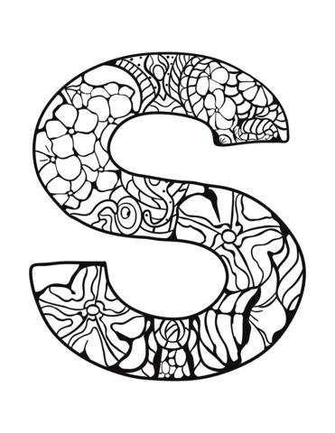 alfabeto da colorare S