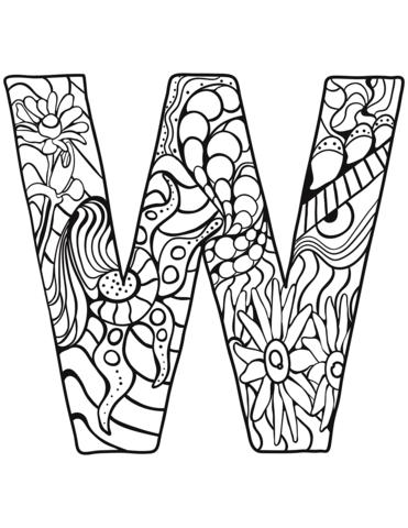 alfabeto da stampare W