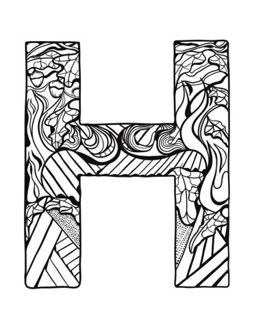 alfabeto in grassetto H