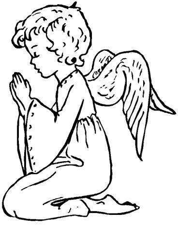 Angelo di Natale che prega