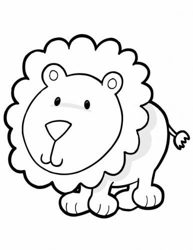 animali da colorare leone