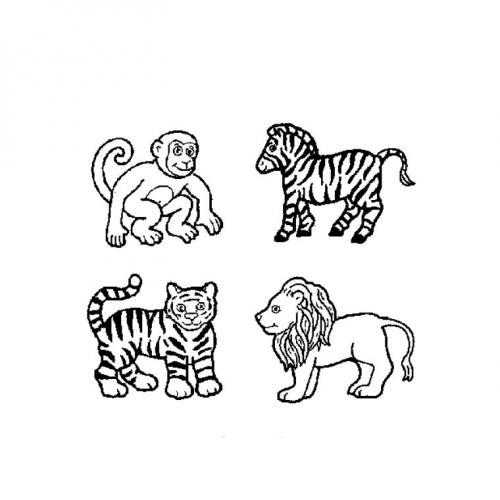 animali ritagliare
