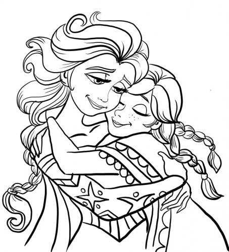 abbraccio tra Anna ed Elsa