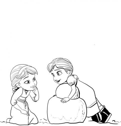 Anna ed Elsa bambine
