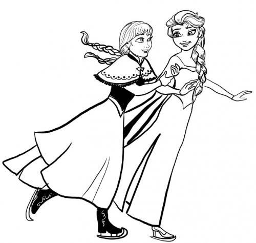 Anna ed Elsa pattinano