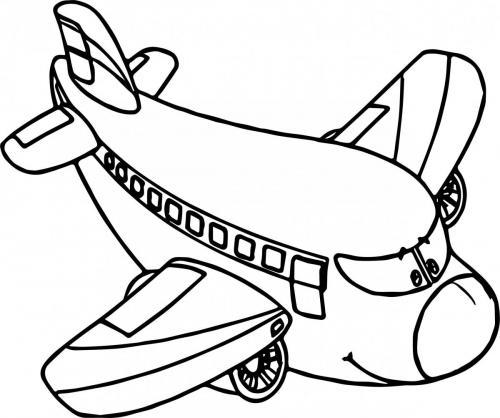 aereo da colorare gratis