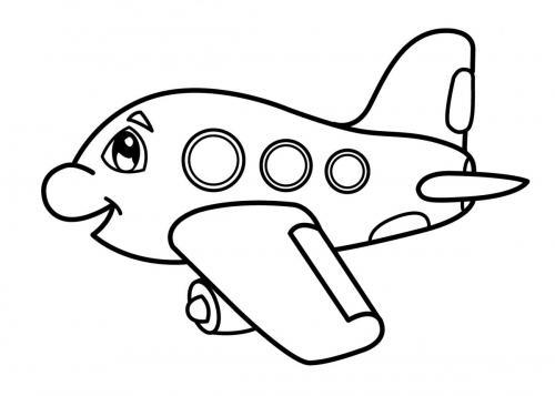 aereo facile da colorare