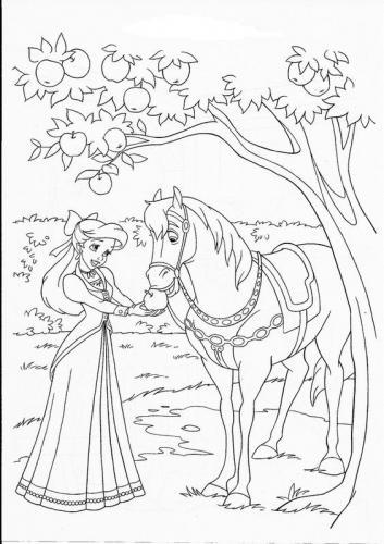 Ariel con il cavallo