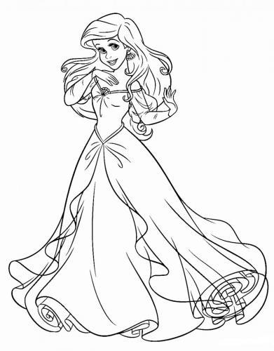 Ariel con il vestito da principessa