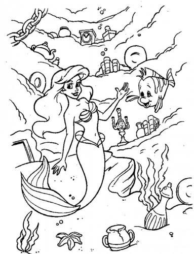 Ariel e Flounders
