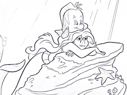 Ariel e il suo amico pesciolino