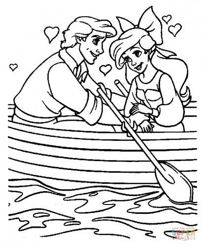 Ariel e il principe da colorare