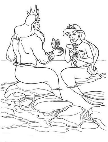 re Tritone con la moglie