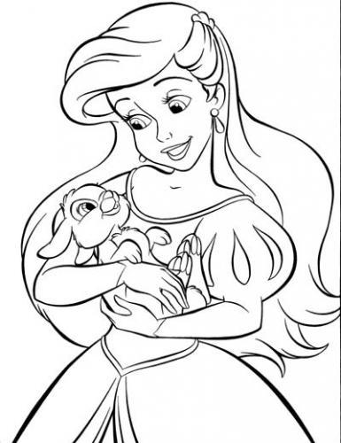 Ariel e un coniglio