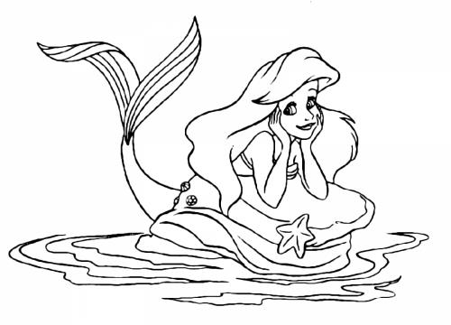 Ariel sullo scoglio