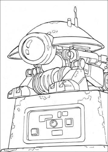 Astronave Star Wars da colorare