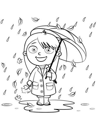 Bimba con ombrello