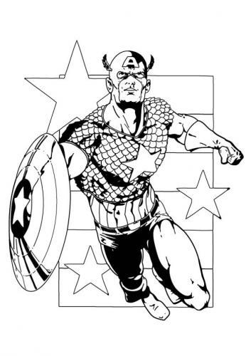 Avengers da colorare e stampare Capitan America
