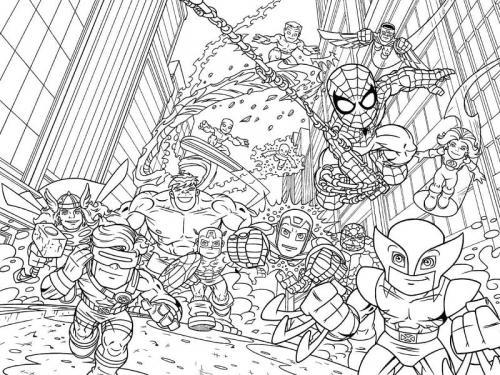 Avengers da colorare e stampare