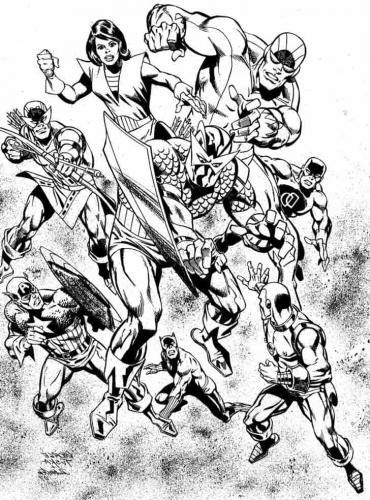 Avengers da colorare gratis