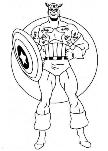 Avengers da stampare e colorare Capitan America