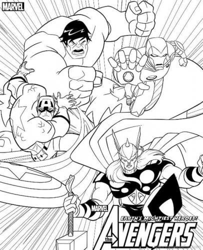 Avengers da stampare e colorare