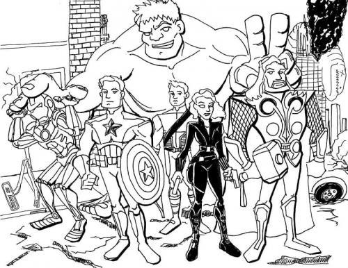 Avengers Endgame da colorare
