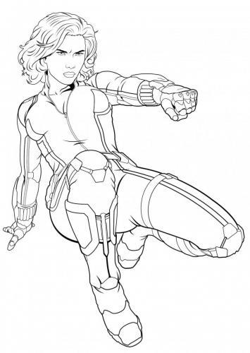 Avengers Infinity War da colorare Vedova Nera