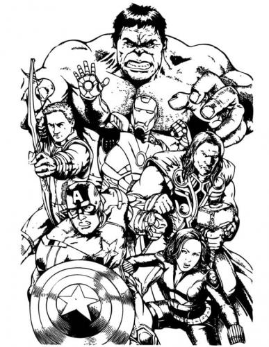 Avengers Infinity War da colorare