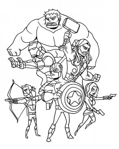 Avengers Infinity War disegni da colorare