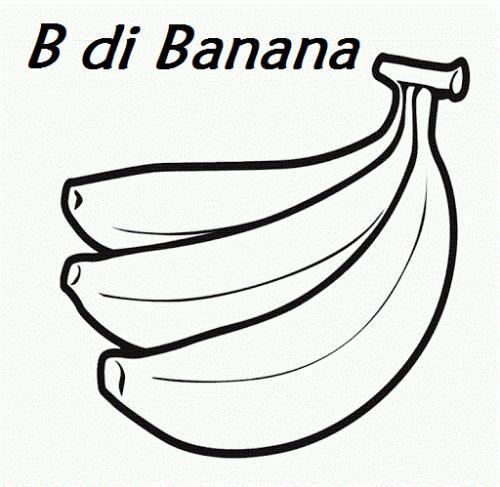 b lettera da colorare