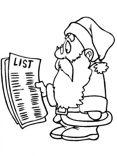 Babbo Natale con lista dei regali
