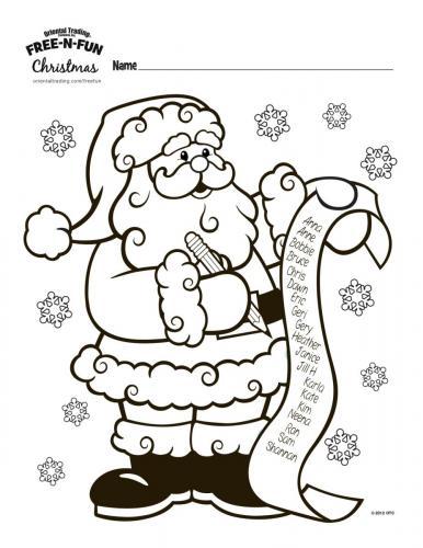 Babbo Natale con lista regali