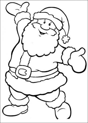 Babbo Natale Da Colorare 104 Disegni E Immagini Natalizie Da Colorare A Tutto Donna