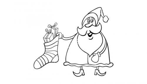 Babbo Natale con calza