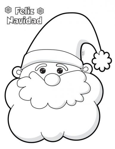 Faccia di Babbo Natale