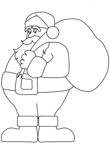 Babbo Natale con sacco