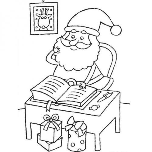 Babbo Natale che studia