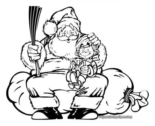 Babbo Natale con bambino