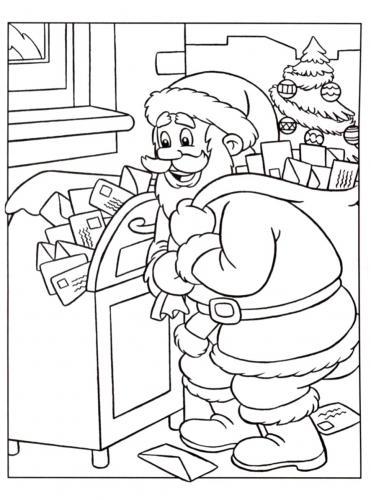 Babbo Natale riceve la posta