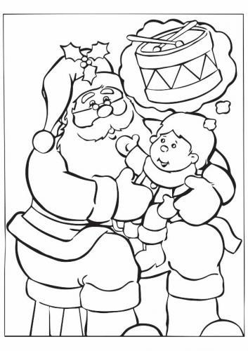 Babbo Natale con bimbo