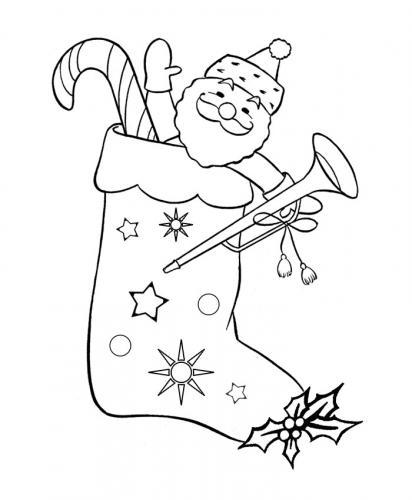Calza con Babbo Natale