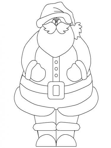 Babbo Natale da colorare