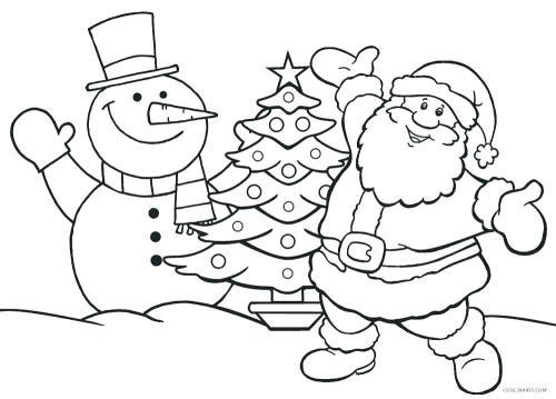 Pupazzo di neve, albero e Babbo Natale