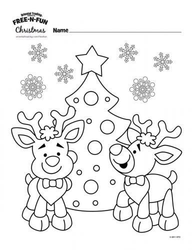 Renne di Babbo Natale con albero