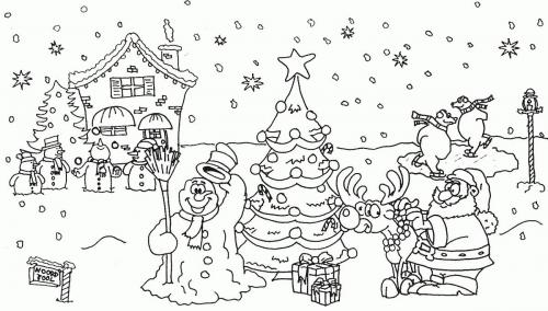 Babbo Natale con il pupazzo di neve