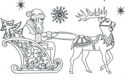 Babbo Natale con la slitta